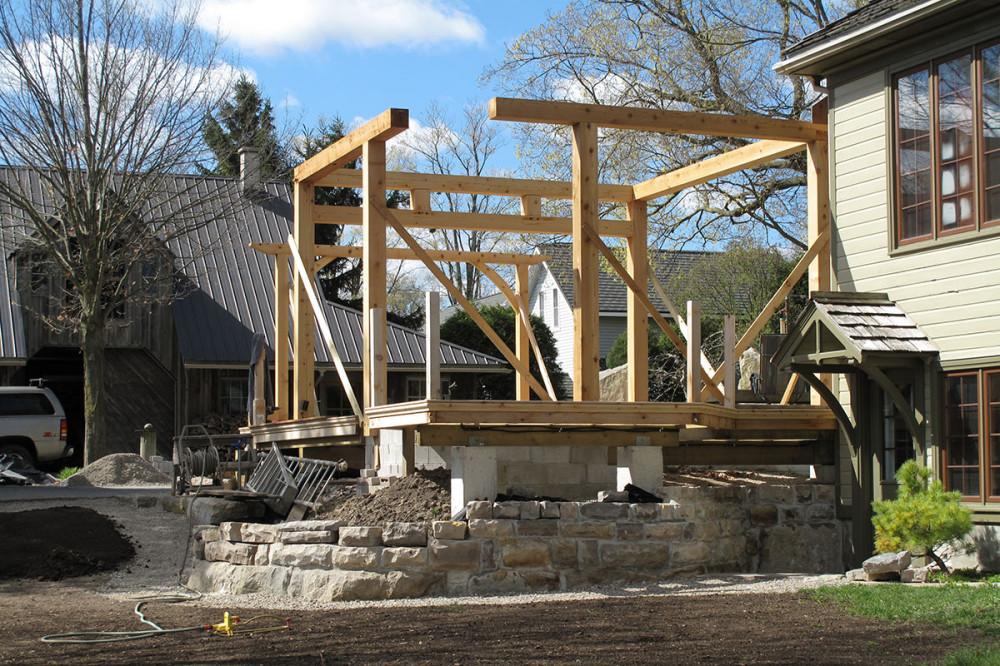 39 regency 39 cottage in innerkip martin design groupmartin for Timber frame sunroom addition