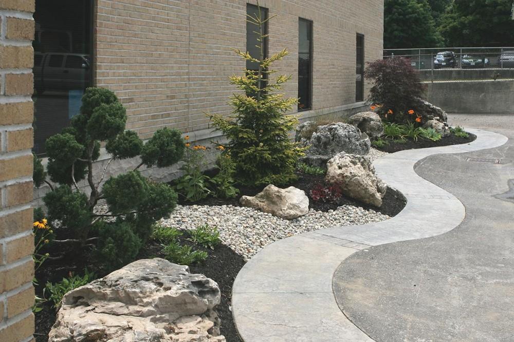 Landscape update for office building martin design for Landscape renovations