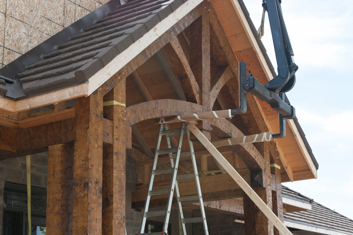 Timber frame porch martin design groupmartin design group for Timber frame porch designs