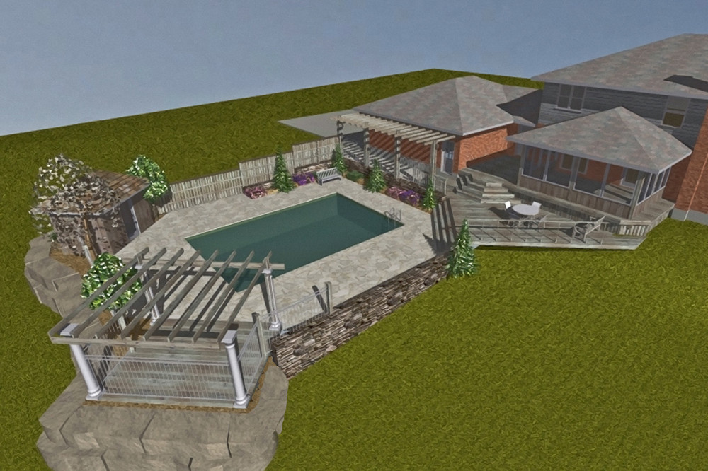New Screened In Porch Deck And Pool Martin Design