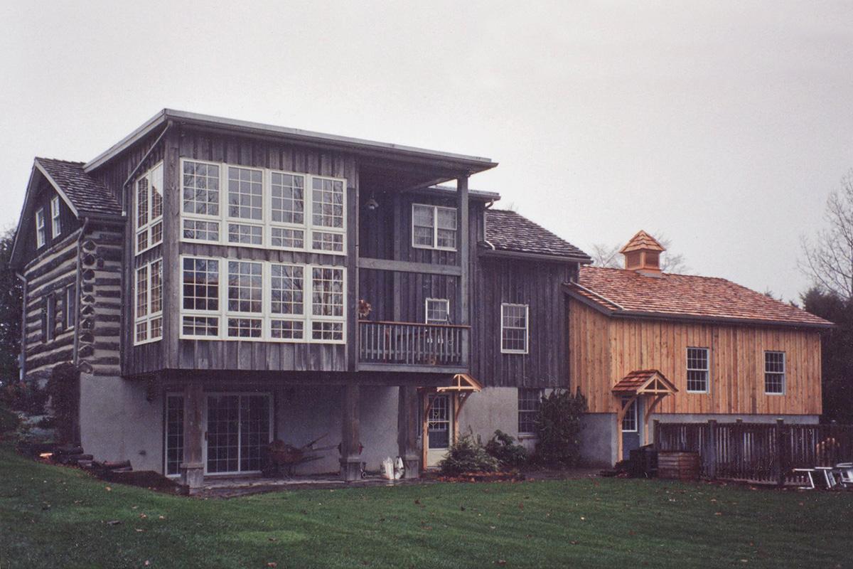 Log House Garage Addition-12